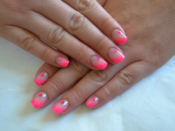 Ongles en gel  Girly flash